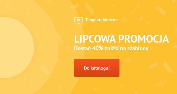 Zniżka 40% na wszystkie szablony TemplateMonster