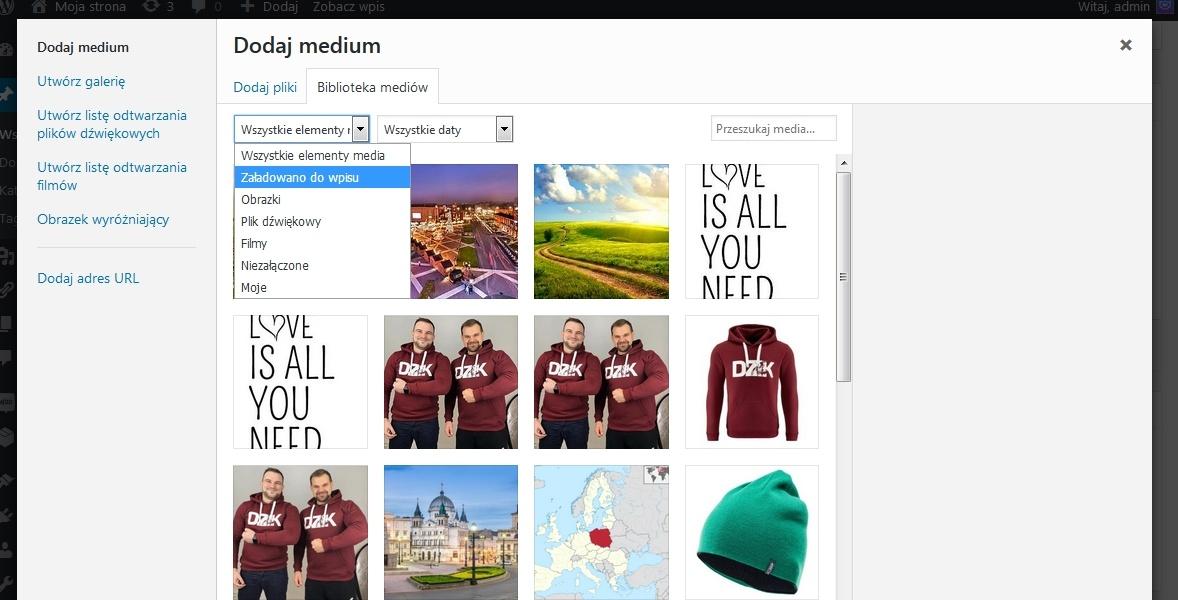 WordPress łączenie obrazów z wpisem. Funkcja, która pomoże utrzymać Ci porządek