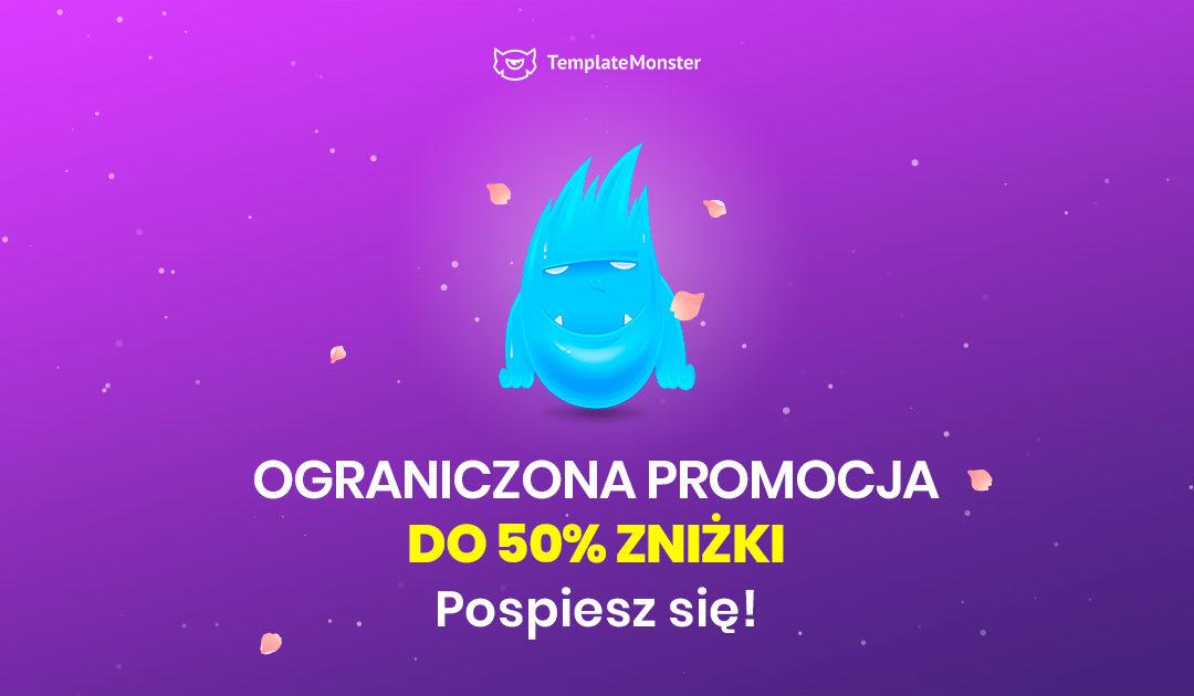 Kwietniowa promocja produktów w TemplateMonster, nawet do 50%. Nie czekaj…