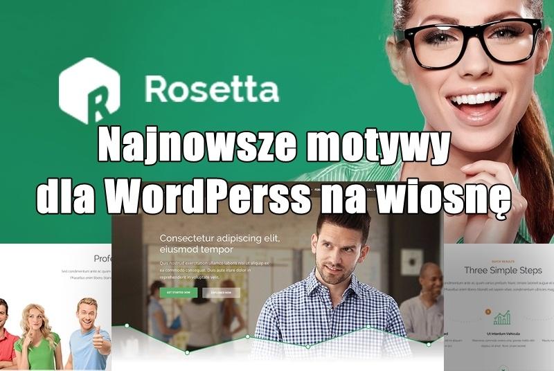 Najnowsze motywy dla WordPerss na wiosnę