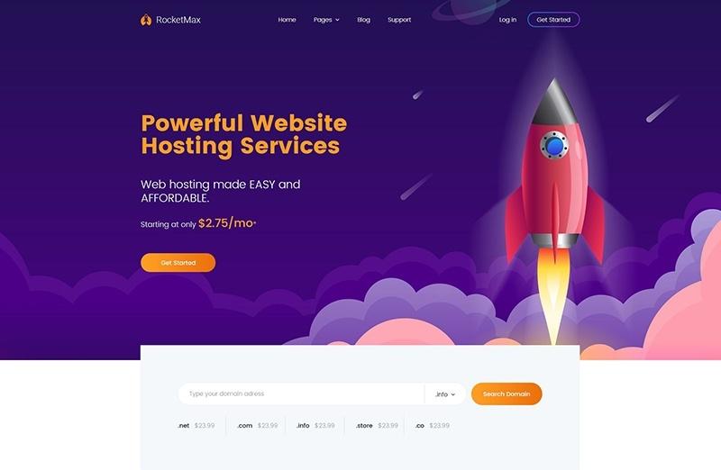 RoketMax motywy WordPress