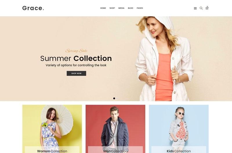 Grace motywy templatki dla sklepu internetowego WooCommerce WordPress