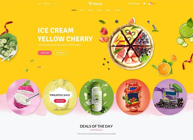 Mosa motywy templatki dla sklepu internetowego WooCommerce WordPress