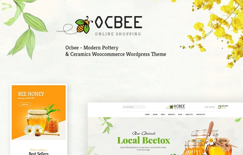 Ocbee motywy templatki dla sklepu internetowego WooCommerce WordPress