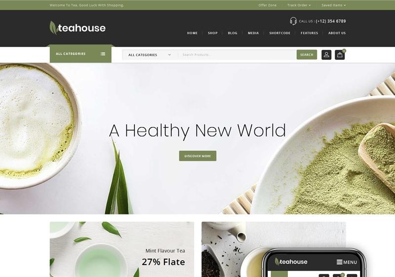 Teahouse motywy templatki dla sklepu internetowego WooCommerce WordPress