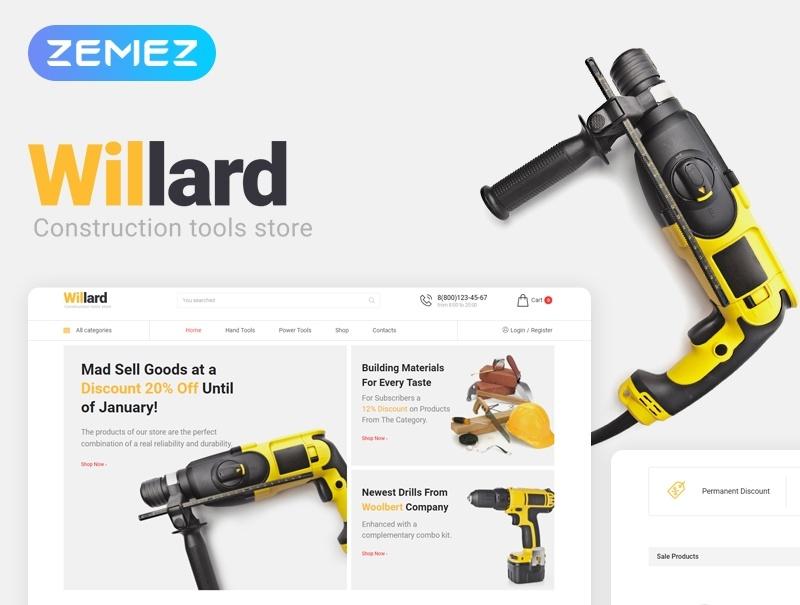 Willard motywy templatki dla sklepu internetowego WooCommerce WordPress