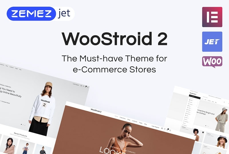 Woostroid 2 motywy templatki dla sklepu internetowego WooCommerce WordPress