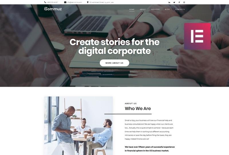 Commuz motywy templatki WordPress