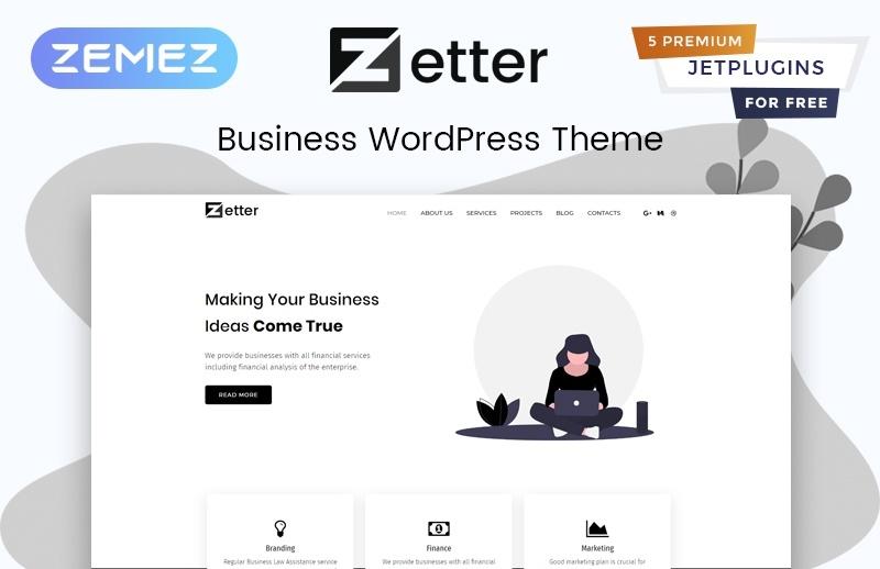 Zetter motywy templatki WordPress