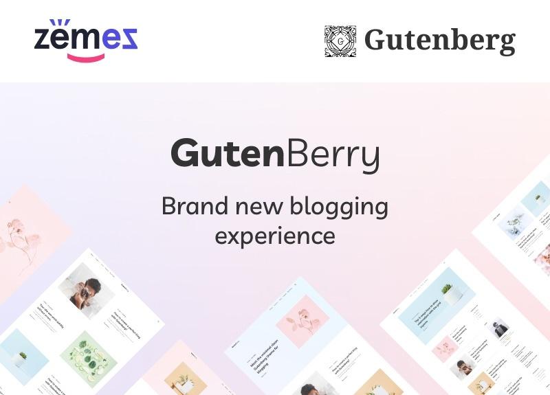 Gutenberry motywy templatki wordpress