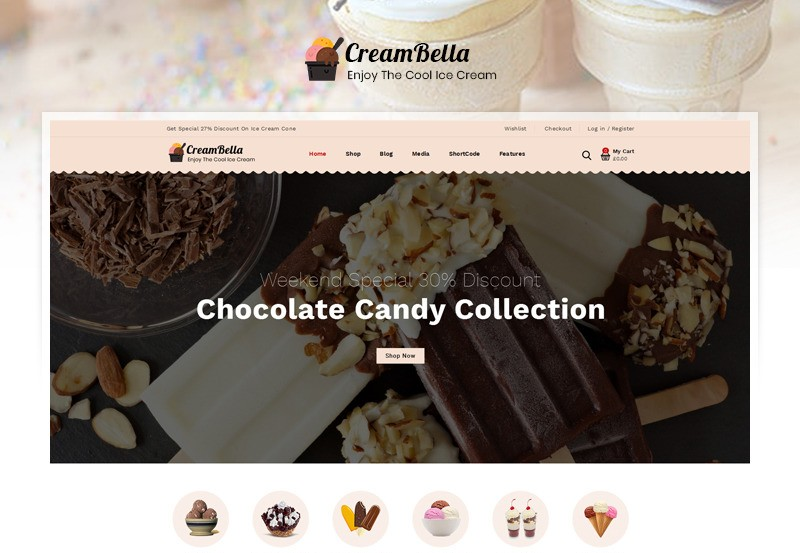 CreamBella motywy WooCommerce WordPress