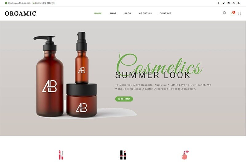 Organic motywy WooCommerce WordPress